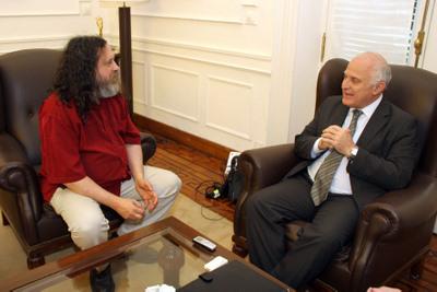 Richard Stallman en la Municipalidad de Rosario