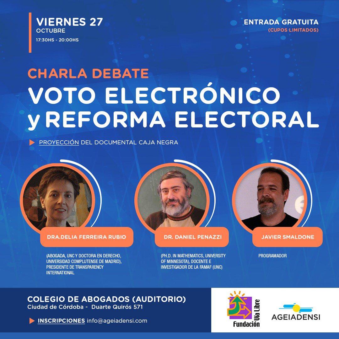 Charla debate sobre Voto Electrónico en Córdoba