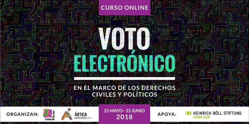 Curso on-line aberto e gratuito: O voto eletrônico no âmbito dos direitos civis e políticos