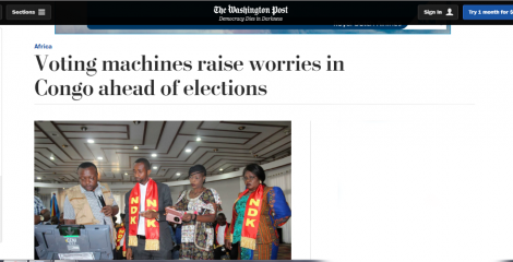 Las maquinitas para votar terminaron en el Congo