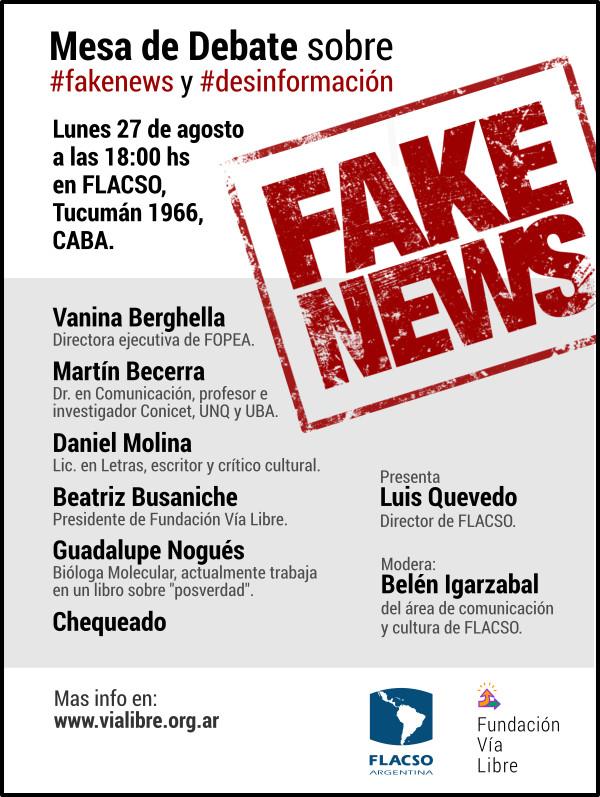 Seminario abierto: Fake News y Desinformación. Democracia, Censura y Libertad de Expresión