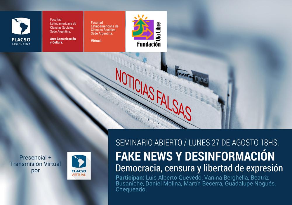 Seminario sobre Desinformación, noticias falsas y regulaciones de Internet
