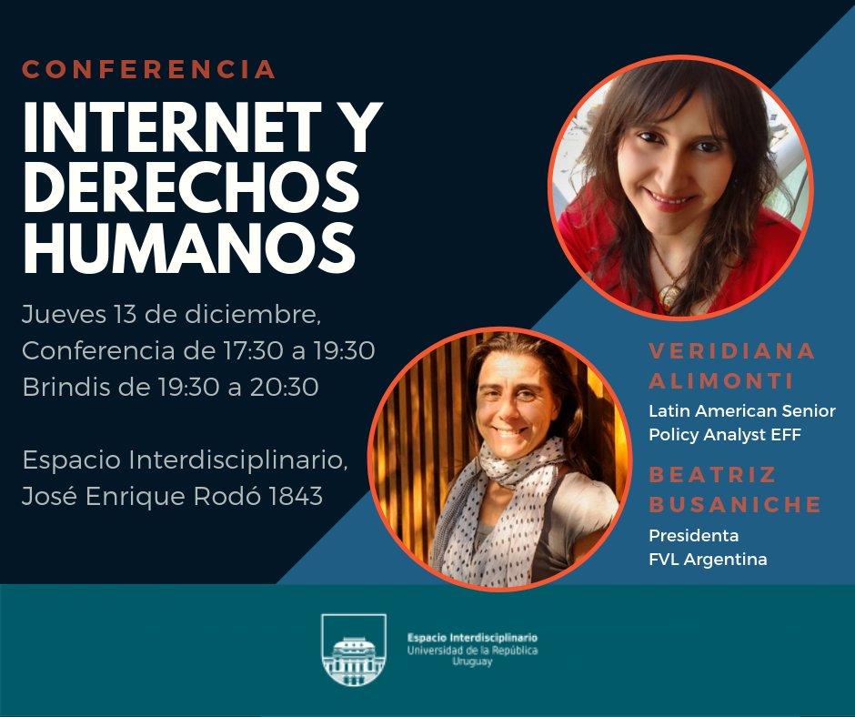 Internet y Derechos Humanos. Conferencia en Montevideo