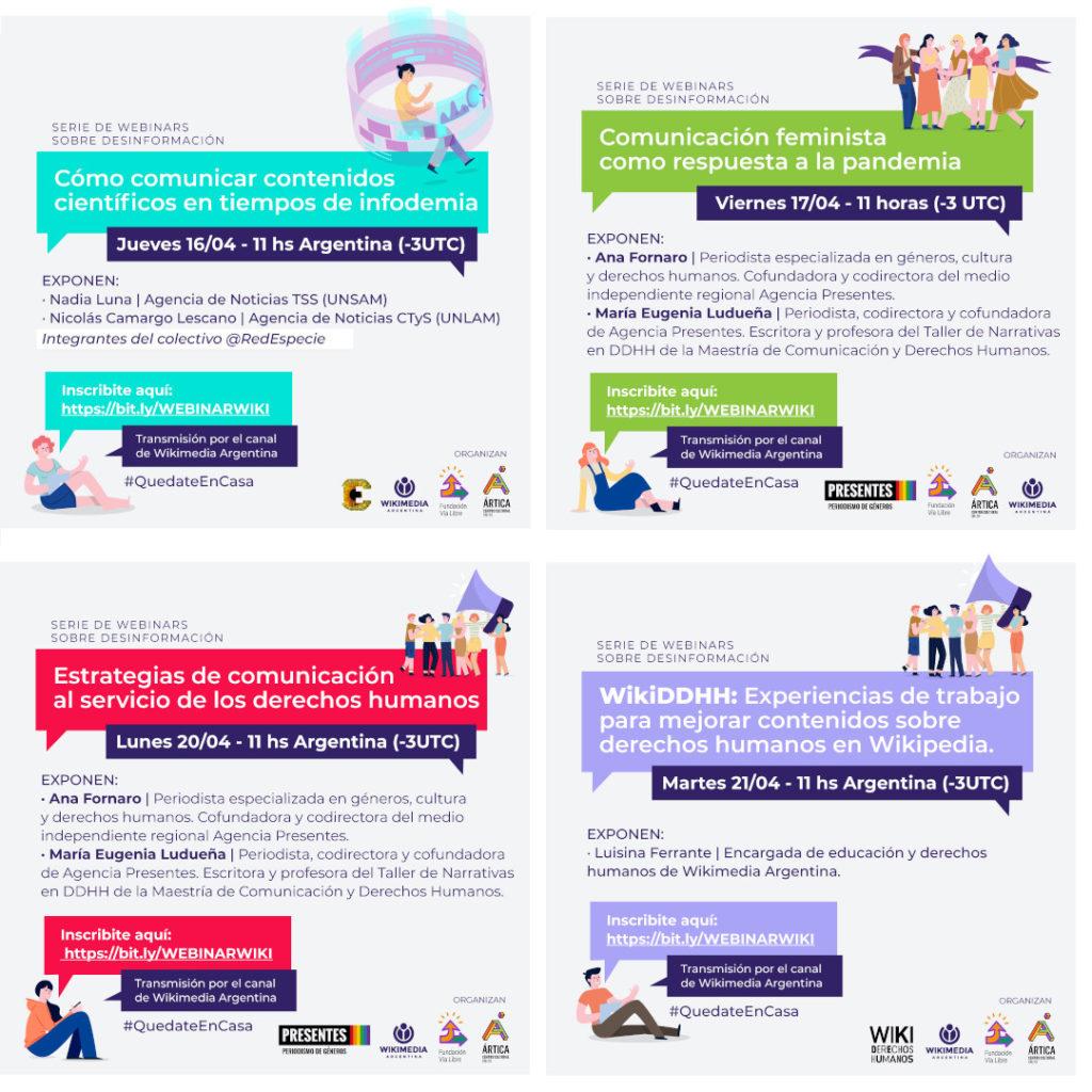Serie de webinars: Cómo comunicar contenidos en tiempos de infodemia