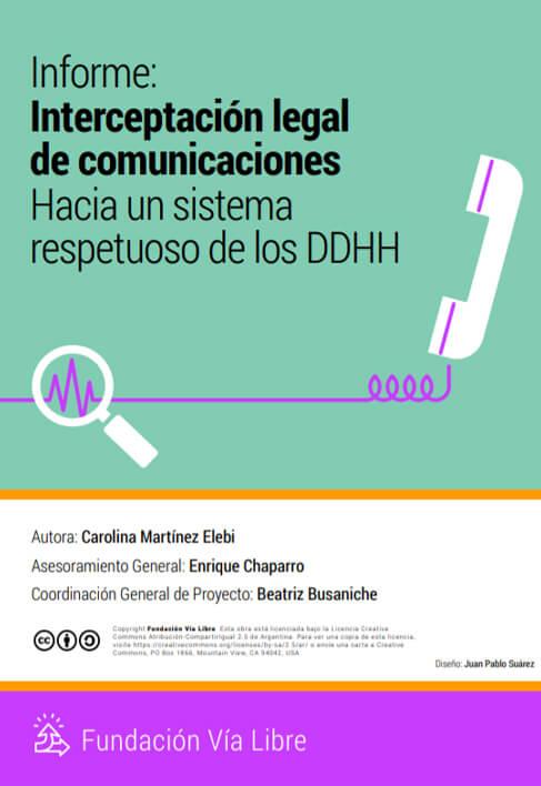 Informe nterceptacion legal de comunicaciones
