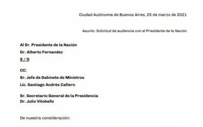 Solicitamos una audiencia a Alberto Fernandez sobre la futura autoridad de la Agencia de Acceso a la Información Pública