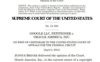 ¿Qué significa Google v/ Oracle en la Corte Suprema de Justicia de los EEUU?